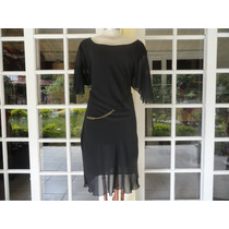 Vestido Seda Preto Marisa N. 46