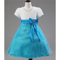 Vestido Festa Infantil Dama Florista Comunhão Pronta Entrega