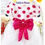 Vestido Festa Infantil Minnie Bebê Batizado - Pronta Entrega