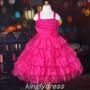 Vestido Infantil Festa. Princesa Barbie. Pink. Lindo!