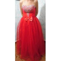 Vestido Debutante Longo Vermelho