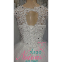 Vestido De Noiva Alça Amanda Renda Novo Pronta Entrega