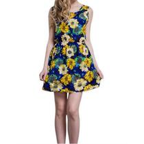 Vestido Florido Feminino Verão Primavera Pronta Entrega