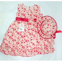 Vestido Infantil Tricoline Floral - Wk Girls.
