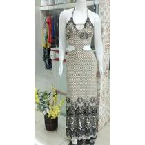 Vestido Sereia Estampado - Tecido Viscose