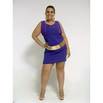 Vestido Novo Clássico - Roxo - Plus Size