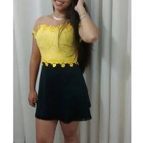 Vestido Princesa. Vestido Renda Guipir, Vestido Festa