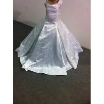 Vestido Dama/formatura/princesa Branco Cetim Importado