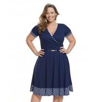 Moda Plus Size -vestido Azul