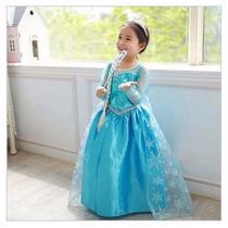 Fantasia Frozen Infantil Elsa Pronta Entrega Frete Grátis