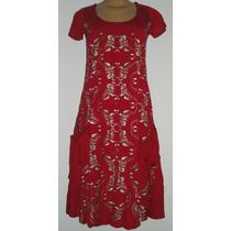 Vestido Bolso Cia Das Indias Malha Viscose Tenda Roots