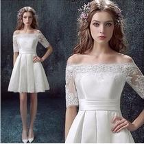 Vestido De Casamento - Noiva - Curto - Renda - Alta Costura