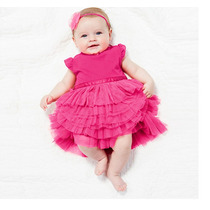 Vestido Festa Pink De Tule E Laço De Cetim - Infantil