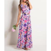 Vestido Longo Estampa Floral Casual Promoção