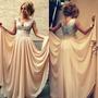 Vestido De Festa Com Paetês No Busto/ Madrinha/casamento