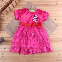 Vestido Minnie De Cetim Infantil Importado Pronta Entrega