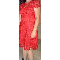 Vestido De Renda Guipir Elegante Curto Festa