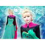 Vestido Fantasia Frozen Elsa+brinde Pronta Entrega Promoção