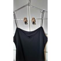 Vestido Tubinho Preto Com Corte Lateral Pernas