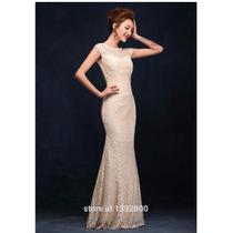 Vestido Longo Em Renda Madrinha Casamento Formatura