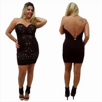 Vestido Com Tule Festa Six One - Referencia 6140022