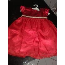 Vestido Infanto Juvenil Vermelho Tamanho 12
