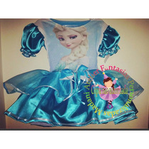 Vestido Fantasia Roupa Aniversário Frozen Elsa Anna