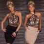 Vestido Leopardo Importado Pronta Entrega Frete Grátis
