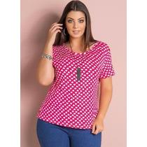Blusa Coração Plus Size - Roupa Gordinhas Lindas