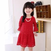 Vestido Infantil De Renda Com Babado Em Varias Cores