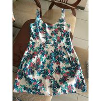 Mini Vestido Floral, Costas Nuas, Tamanho 36.