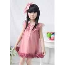 Vestido Tule Babados 4 Anos Menina Bolinhas Pronta Entrega