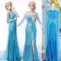 Vestido Fantasia Frozen Elsa Adulto Pronta Entrega Promoção