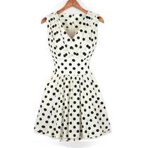 Vestido Feminino Bolinha Retro Vintage - Pronta Entrega