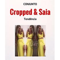 Conjunto Cropped Saialonga Fendasereiababado Verao 2016!