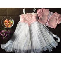 Vestido Infantil Festa Bordado Aniversário Casamento