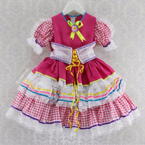 Vestido Festa Junina Infantil Menina Caipira Chic (cpc805)