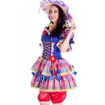 Vestido Caipira Festa Junina Adulto Luxo