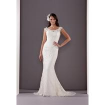 Luxo: Vestido De Noiva Sereia Em Renda Guipir Com Cauda