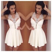 Vestidos De Festa Branco Bonito Vestido Vestidos Renda.