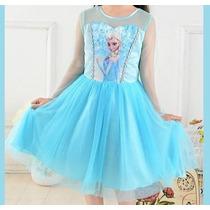 Vestido Infantil Roupa Frozen Anna Elsa Criança Festa