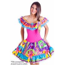 Vestido Junino Festa Junina Infantil Juvenil Caipira Luxo