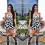 Vestido Rodado Neoprene Blogueira Moda Verão Perfeito Lindo