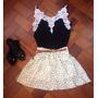 Conjunto Blusa E Saia (vestido)