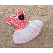 Vestido Infantil De Bolinhas Importado Pronta Entrega