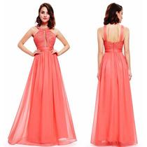 Vestido De Festa Rosa/madrinha/formatura/casamento/p-entrega