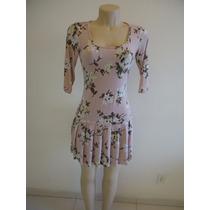 Vestido Flores Aval Tam P Viscose/elastano