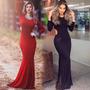 Roupas Femininas Vestido Longo Rabo De Sereia Festa Madrinha