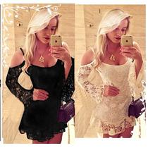 Lindos Vestidos Em Renda Varios Modelos P,m,g E Xg