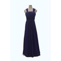 Vestido De Noite De Baile De Dama De Honra Azul